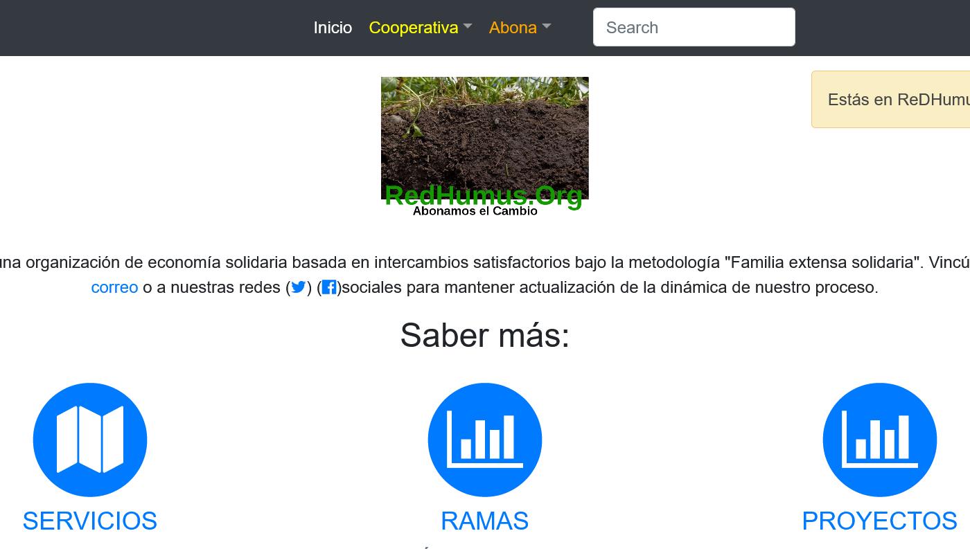 Sitio web ReDHumus